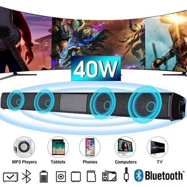 2021 Hot sale bluetooth speaker Soundbar Home Theater TV Speaker Portable 3D Subwoofer Wireless Bluetooth TV Soundbar speakers