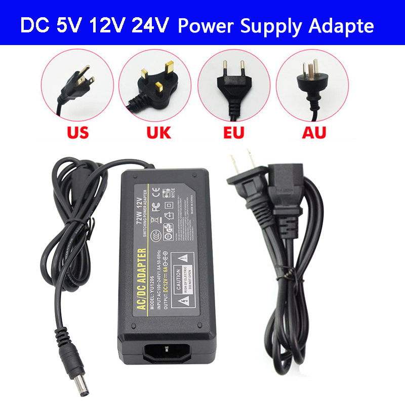 LED Adapter Power Supply DC5V / DC12V DC24V 1A 2A 3A 5A 7A 8A 10A For led strip lamp lighting led power driver plug Lighting Transformers    - AliExpress