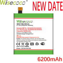 Wisecoco BV6000 2PCS 6200mAh New Powerful Battery For Blackview BV6000S Phone Replacement + Tracking Number