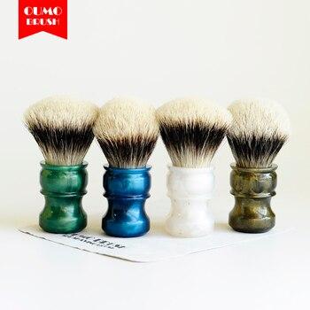 Brocha de afeitar exclusiva OUMO con límite de ventiladores, brocha de afeitar con SHD WT, la mejor brocha de afeitar de nudos con bombilla de 2 bandas