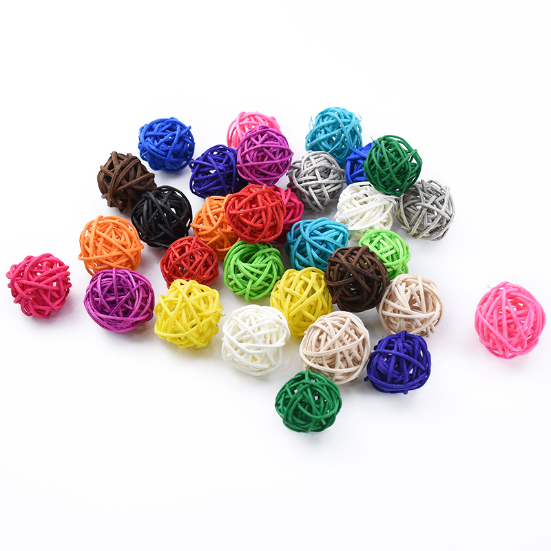 10PCS Artificial Straw Wedding Decorative Flower Wreath Home Christmas Decoration Rattan Ball DIY Curtain Hanging Accessories