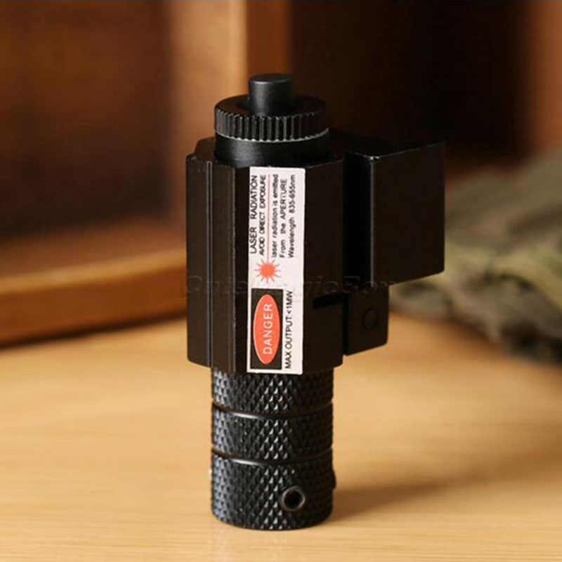 Minimira telescópica táctica potente láser de punto rojo Weaver Picatinny juego de montaje para pistola Rifle pistola tiro Airsoft Rifle caza