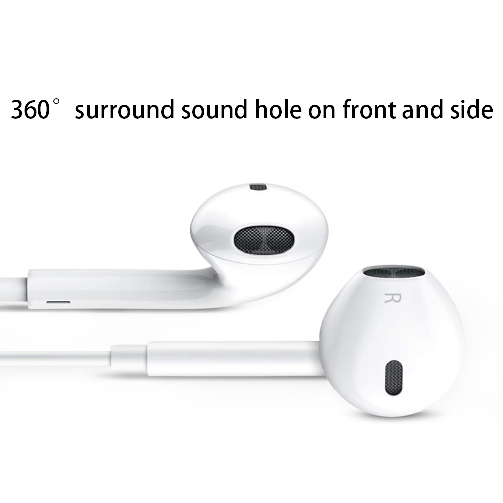 Image 4 - ANRY Earphone Headsets With Built in Microphone 3.5mm In Ear Wired Ear phone for IPhone X XR XS Max 8 7 6 6S Plus 6 5 5S-in Phone Earphones & Headphones from Consumer Electronics
