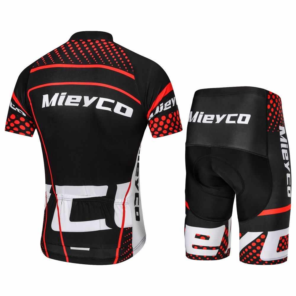 Koszulka kolarska Mieyco Man MTB Race odzież rowerowa zestaw rower górski Maillot lato Ropa Ciclismo odzież rowerowa odzież rowerowa
