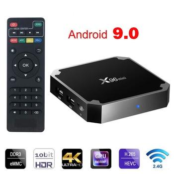 X96 Mini Android 9.0 Smart TV Box Amlogic S905W 1GB/2GB 8GB/16GB Quad Core 2.4GHz WiFi 100M TVbox 4K HD Media Player Set Top Box