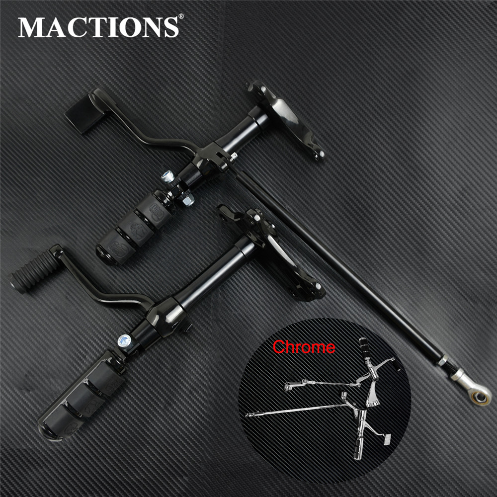 Motorcycle Forward Controls Complete Kit Pegs Levers Linkages Black/Chrome For Harley Sportster XL 883 1200 2008-2019 2020