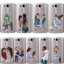 Phone Case Fashion Baby Mom Girl Super Mom Dad For LG G6 Q6 G3 G4 G5 G7 XPower 2 3 V30 Q8 K4 K7 K8 K10 2017 Etui Coque Silicone