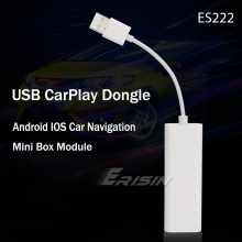 Adaptador usb para iphone android, adaptador para rádio automotivo 222 carplay