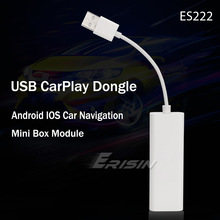 Erisin – Kit CarPlay Dongle USB, pour iPhone, CarPlay, Android, filaire, unité centrale, stéréo, téléphone portable, mirrorlink, 222