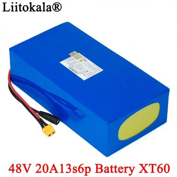 LiitoKala 48V 20ah 13s6p Lithium Battery Pack 48V 20AH 2000W electric bicycle battery Built in 50A BMS XT60 plug