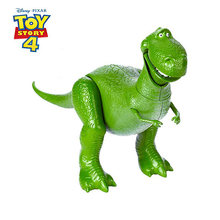 Disney Toy Story 4 Rex Talking Green Dinosaur Q Version 34cm PVC Action Figures Mini Dolls Kids Toys Model for Children Gift(China)