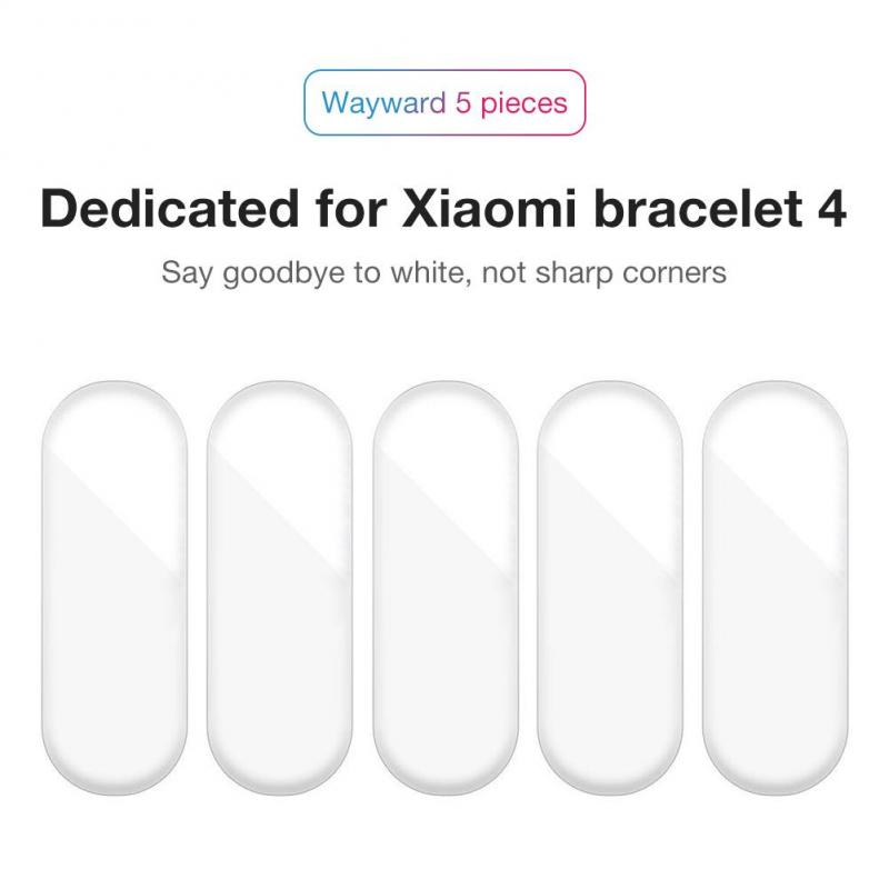 5Pcs Hydrogel Protective Tempered Film For Xiaomi Mi Band 4 3 2 Transparent Sreen Protection Film Full Screen Protector Film