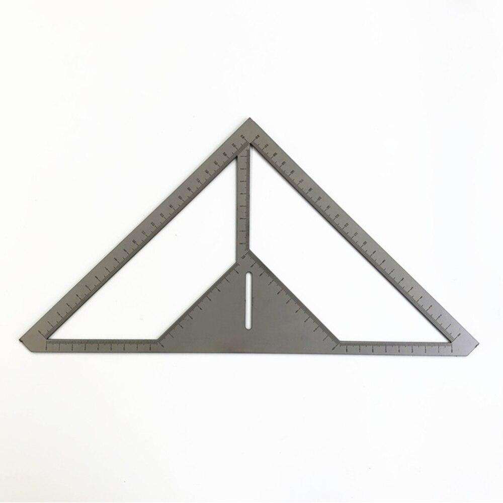 Economic Multifunction Pattern Tile Ruler Floor Drain Ruler Bricklayer Stainless Steel Triangle Ruler Flower Builder