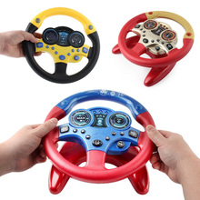 Children Steering Wheel with Light Sound  Toy car Wheel Kids Baby Interactive toys Simulation Driving Car Toy Education Toy Gift