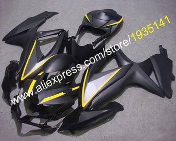 For Suzuki GSX-R600 GSX-R750 K8 GSXR600/750 2008 2009 2010 Matte Black Motorcycle Fairing Kit (Injection molding)