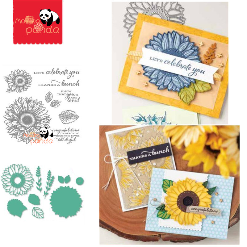 MP104 CELEBRATE SUNFLOWMetal Cutting Dies And Stamps For DIY Scrapbooking Album Embossing Paper Cards Decorative Crafts