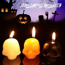 Candle Bougie Skull Gift Halloween Indoor Creative Olefin Horrible Party Prop Supplies