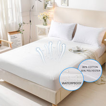 160X200 Cotton Terry Matress Cover 100% Waterproof Mattress Protector Bed Bug Proof Dust Mite Mattress Pad Cover For Mattress(China)
