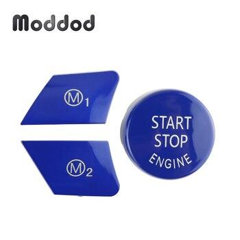 Botones de arranque del motor, volante M1 M2, botón para BMW F15 F16 F80 F82, accesorios de cambio de coche, tapa de repuesto