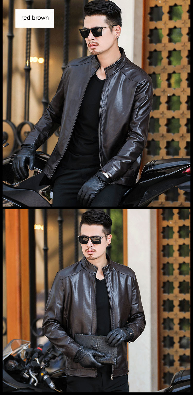 H396235b646714d7184e56085734a171b1 Plus size men genuine leather jacket 4XL 5XL 6XL 2020 spring and autumn zipper male sheepskin leather jacket father outwear P07