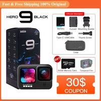 Gopro HERO9 Zwart Onderwater Actie Camera 5K 4K Met Kleur Front Screen, Sport Cam 20MP Foto 'S, live Streaming Go Pro Hero 9