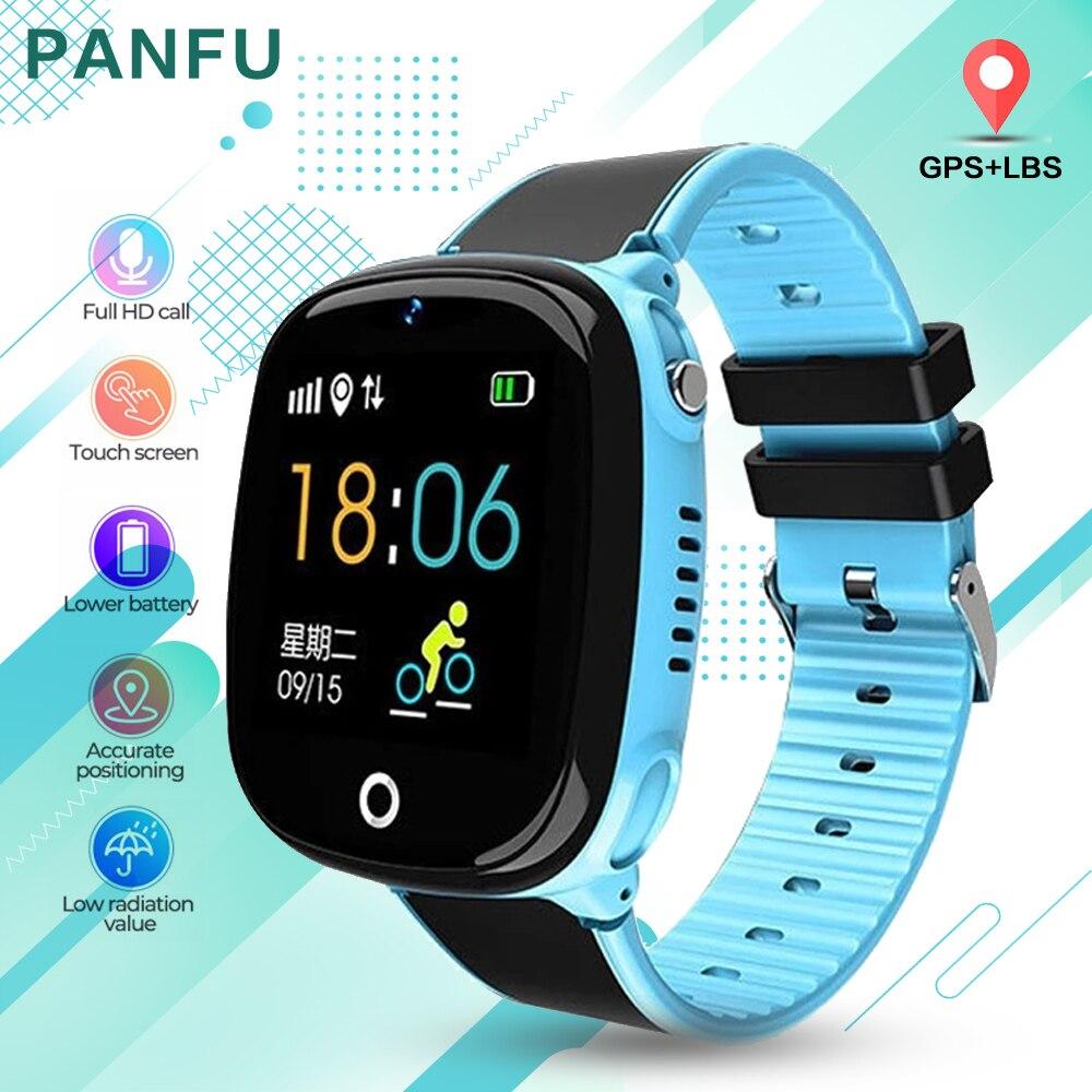 Детские Смарт-часы HW11 IP67 водонепроницаемые Смарт-часы Android GPS отслеживание безопасности забор SOS звонок Смарт-часы с камерой для ребенка