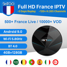 Italy Portugal Turkey French IPTV France DATOO HK1 MINI+ Android 9.0 BT Dual-Band WIFI 4G+128G Arabic France IPTV Android Box все цены