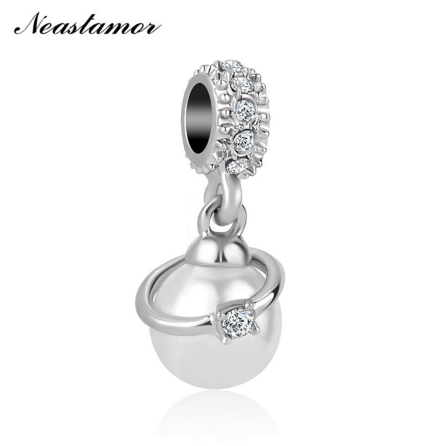 Новинка, бесконечный блеск, милая домашняя бусина, подходит для оригинала Pandora, очаровательный браслет, ожерелье, безделушка, ювелирные изделия для женщин и мужчин, сделай сам - Цвет: A1355 white