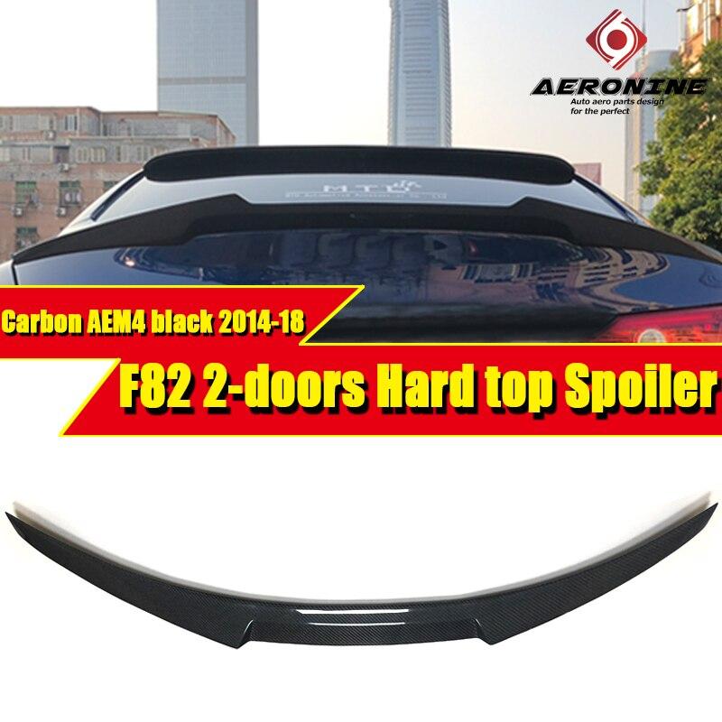 Pour BMW série 3 F82 2 porte rigide berline bec de canard queue véritable Spoiler carbone M4 Style 320i 325i 330i 335 320d aile Spoiler 14-18