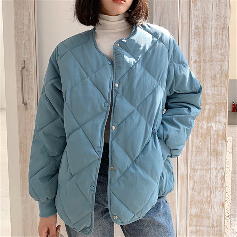 Hzirip 2019 New Design Female Simple Women Down Cotton Winter Solid Coat Thick High Quality Outwear Sweet Women Plus Size Coats
