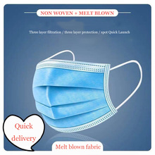 hot sell Face Mouth Mask Disposable Protect 3 Layers Filter Melt blown cloth Earloop Non Woven Adult face Mouth Masks
