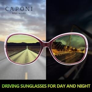 Image 2 - Женские поляризационные солнцезащитные очки CAPONI, оверсайз солнцезащитные очки в форме бабочки для вождения днем и ночью, RY2115