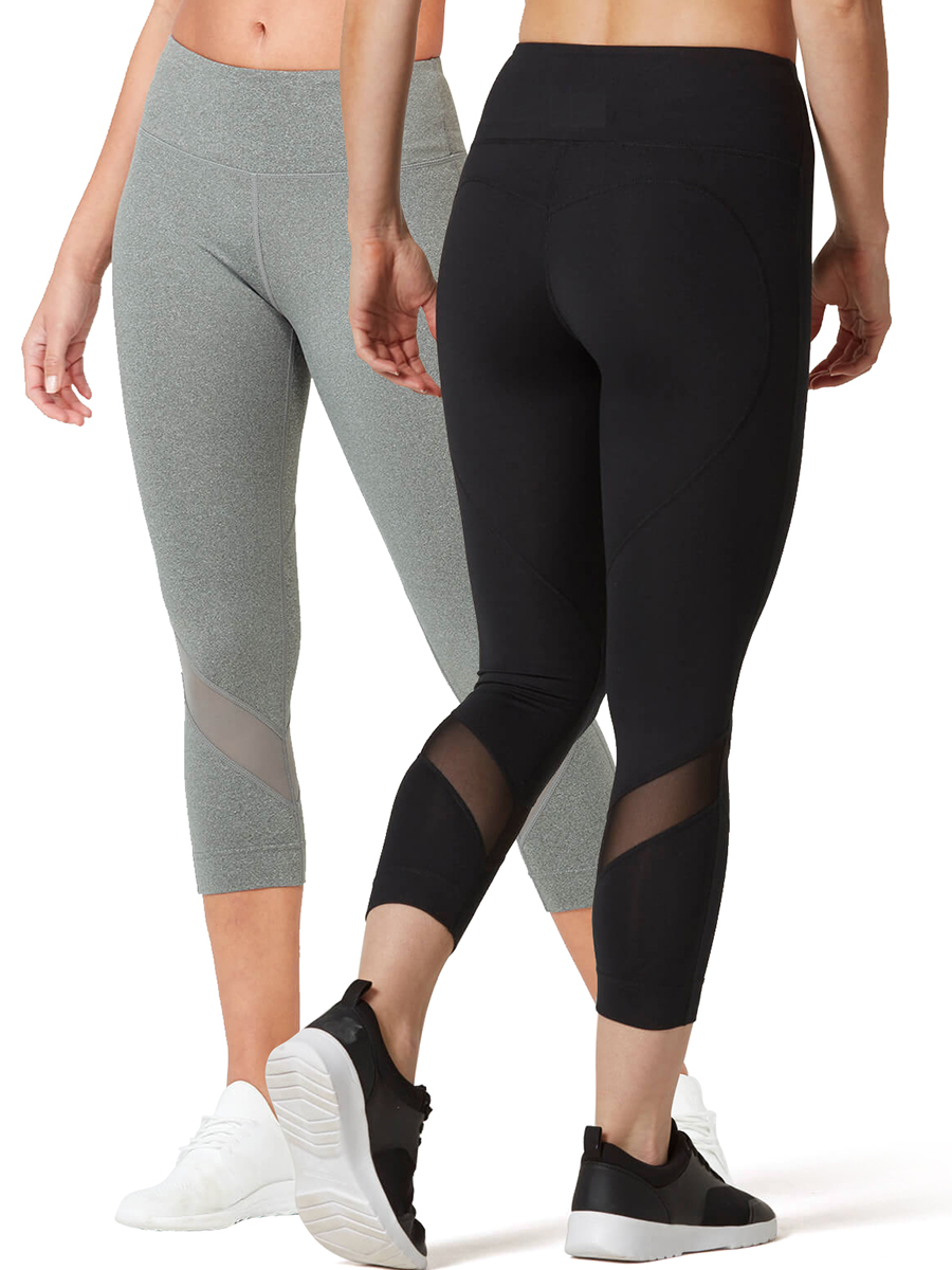 Vutru Leggings Sportswear Yoga-Pants Waist-Tights Scrunch Fitness High-Elastic Mesh Women