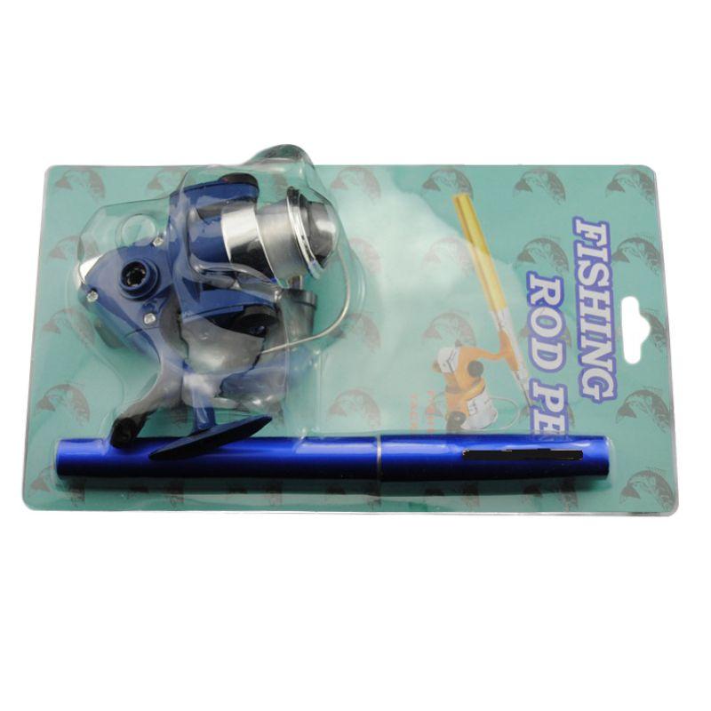 Fishing Rod Reel Line Combo Set Pen Shape Super Short Telescopic Pole Mini Spinning Wheel Wire Kit|Rod Combo| |  - title=