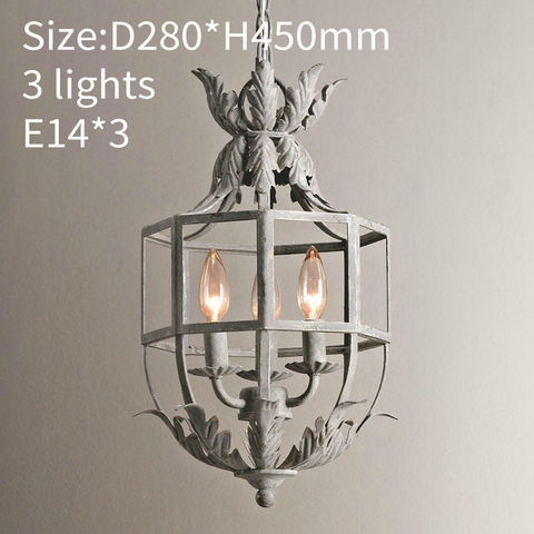 retro cinzaouro gaiola lustre 3 luz de
