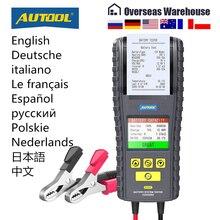 Autool BT860 12 24V Auto Batterij Tester Truck Zwengelen Opladen Test Met Printer Real Time Data Opslag 3.2Inch kleur Screen