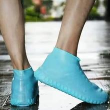 Модная обувь, покрытие из водонепроницаемого материала, многоразовое покрытие на обувь от дождя, Резиновые Нескользящие непромокаемые сапоги, мужская и женская обувь, аксессуары