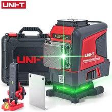 UNI-T lm575ld laser nível verde 3d 12-line marcador auto-nivelamento ferramentas auxiliares ao ar livre indoor de controle remoto