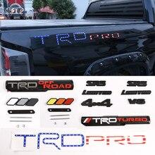 Autocollant de protection latéral de voiture, emblème de coffre arrière, Badge SPORT V6 4x4, autocollant de décoration 3D, LOGO TRD Racin, pour Toyota TUNDRA Sequoia Tacoma