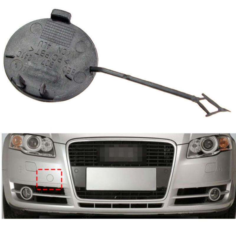 Front Bumper Tow Hook Eye Cover Towing Cap 8E0 807 241 C for 05 06 07 08 09 AudiA4 B7Quattro Fit for audiA4 B7 T3ED