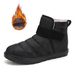 2019 botas de neve de inverno sapatos masculinos sapatos femininos à prova dwaterproof água sapatos de neve quente botas de tornozelo de corte alto tamanho grande 36-47 moda botas casuais