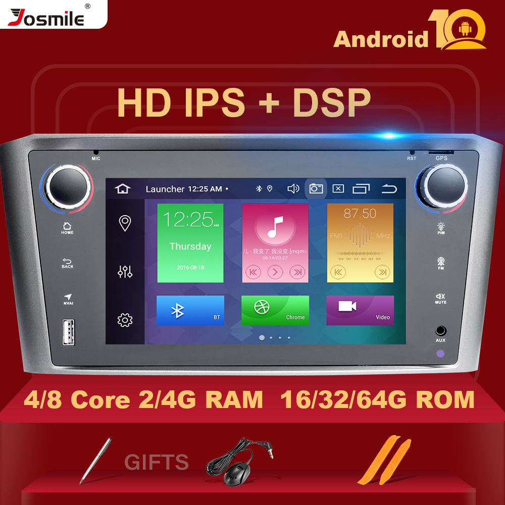 DSP IPS 4G 64G <font><b>Android</b></font> 10 Car Multimedia For <font><b>Toyota</b></font> Avensis <font><b>T25</b></font> 2002-2008 GPS stereo audio radio no dvd player 8Core navigation image