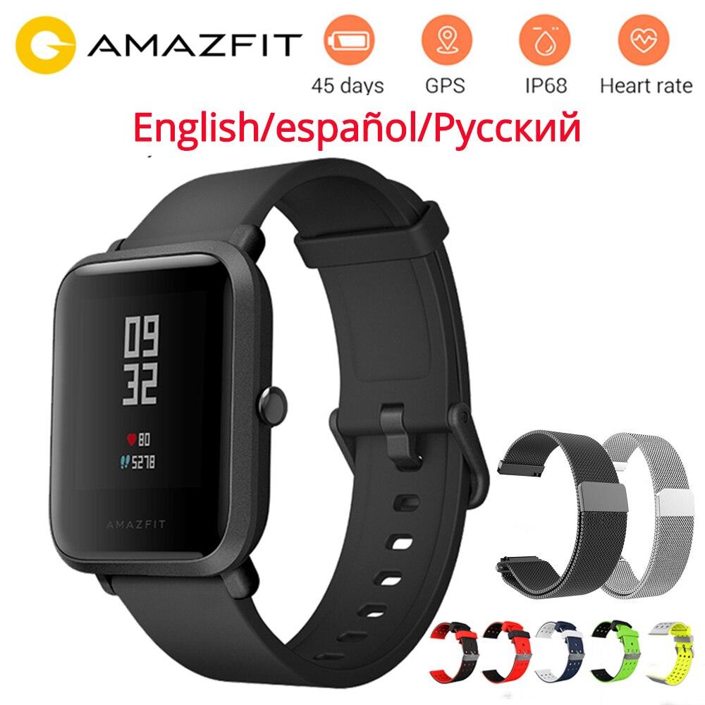 Original Huami Amazônia Bip Relógio Inteligente Amazônia RITMO Lite Juventude Verison IP68 GPS + Glonass 45 Dias Vida Útil Da Bateria À Prova D' Água relógio