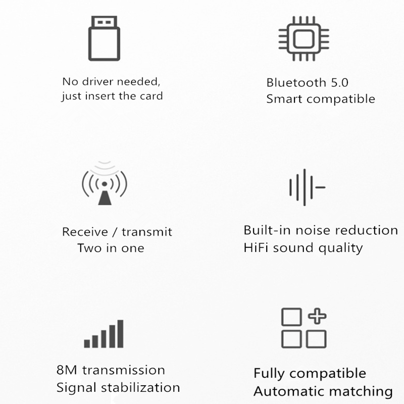 2 In 1 Nirkabel Bluetooth Receiver Adaptor 5.0 Audio Transmitter Stereo Bluetooth Dongle AUX USB 3.5Mm untuk Laptop TV PC Mobil Kit