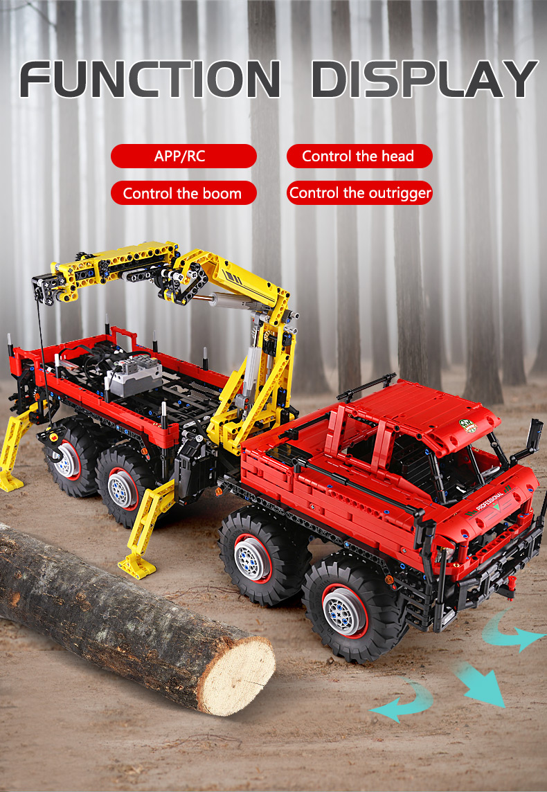 MOULD KING  Technic Motor Power Mobile Crane Mk II Building Block 9