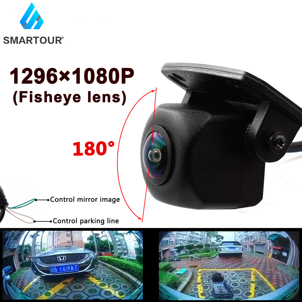 Smartour HD 1296x1080P 180 Degree Fisheye Lens Night Vision Vehicle Rear View Reverse Camera For Car Monitor or Android DVD
