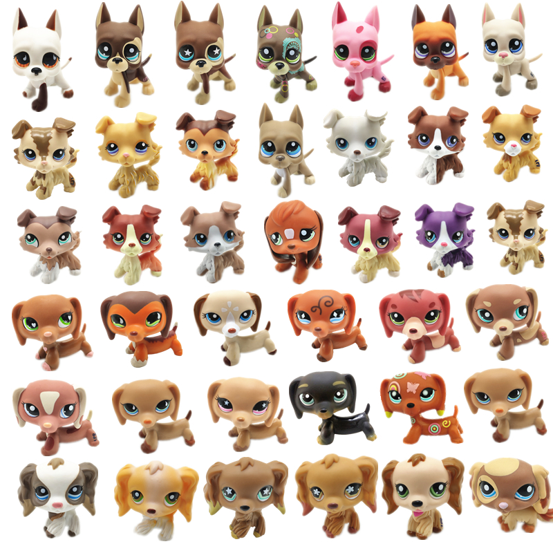 LPS Pet Shop Toy Doll Shepherd Dog Collection Standing Action Characters High Quality Small Model Toys Children Birthday Gifts