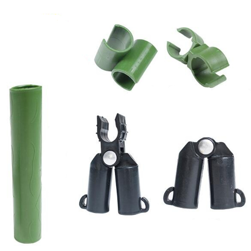 5pcs lot Plastic plant stakes connectors Garden Climbing plant support Fixed Clamp Pipe Pole Connecting Joints 8mm  16mm 20mm