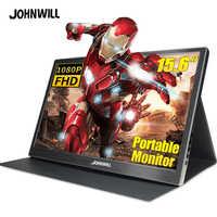 Portatile monitor 15.6 ''4K lcd hd HDMI USB di Tipo C per PC del computer portatile del telefono PS4-switch-XBOX 1080p gioco ips monitor a schermo
