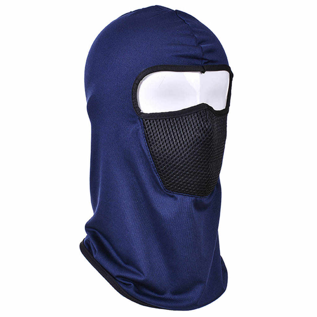 Kadın erkek düz renk tam yüz maskesi boyun sıcak şapka kadın taktik motosiklet avcılık kap erkek açık kayak çıkarılabilir gözlük şapka